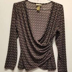 Miss Tina by Tina Knowles Purple Crossover Top